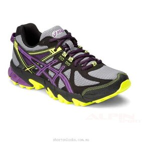 Buty ASICS Gel-Sonoma Buy Asics Gel Sonoma   Womens Trail Running Shoes   Grey Purple Yellow   T4F7N 1133 B   Standard 390_LRG ikona produktu