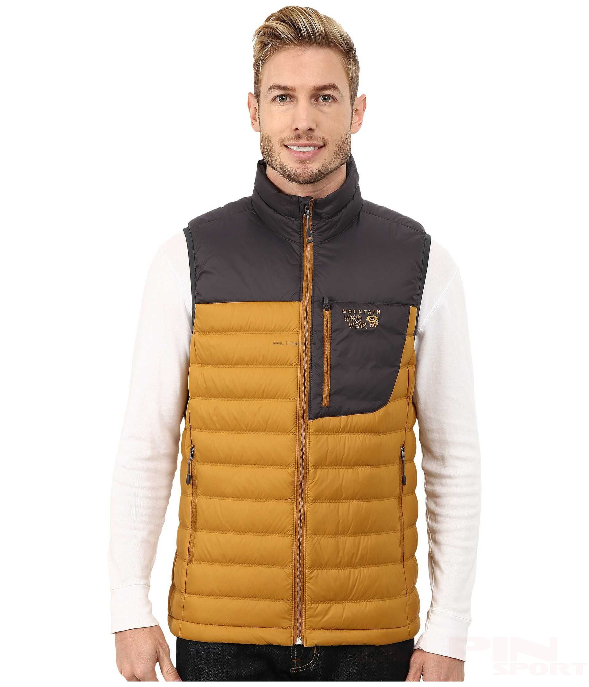Kamizelka MHW Dynotherm OM6995 exclusive collection Mountain Hardwear Dynotherm Down Vest Underbrush Shark   Men Clothing XI590