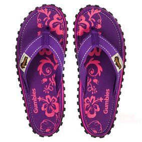 Klapki GUMBIES Islander Canvas pol_pl_WOMEN GUMBIES ISLANDER CANVAS PURPLE HIBISCUS 5468_3 ikona produktu